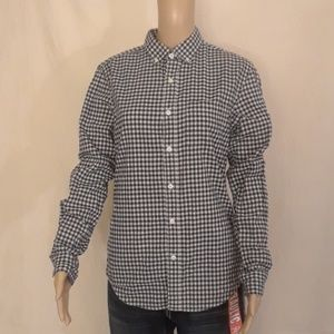 Old Navy Black and White Gingham Shirt - Size S